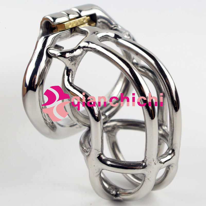 Classic Male Chastity Device with New Base Ring 4 size choose Stainless Steel Cock Cage Penis Restraint Sex Toys for Men