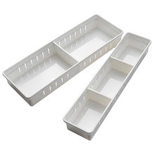 Dropshipping 1Pc Divider Board Adjustable Drawer Organizer Box Storage Box For Home Kitchen(China)