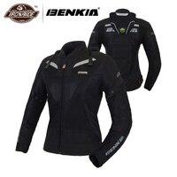 BENKIA для женщин мотоциклетная куртка Лето Мото куртка для мотоспорта мотоцикл езда дышащий Jaqueta Motoqueiro средства ухода за кожей Шеи Protecctor