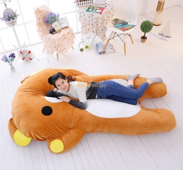 Fancytrader   200cm X 150cm Giant Huge Soft Cute Rilakkuma Double Bed Carpet Tatami Mattess Sofa, FT50336 (2)