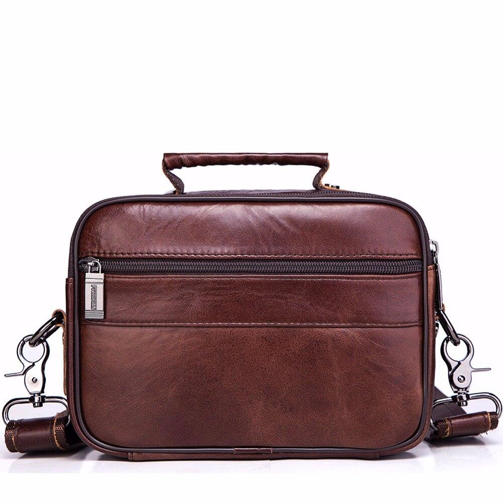 fe801786a989c FUZHINIAO bolso bolsos de alta calidad famosa marca hombres Casual bolso de  mano de cuero genuino