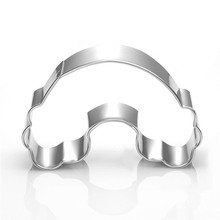 1pc Rainbow Shape Cookie Cutter 3D Stainless Steel Fondant Cake Decorating Tools DIY Pastry Biscuit Baking Molds
