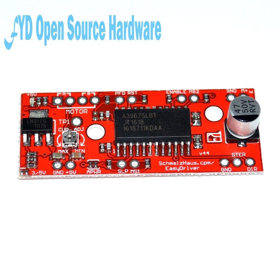 5pcs A3967 EasyDriver Stepper Motor Driver V44 for arduino development board 3D Printer A3967 module