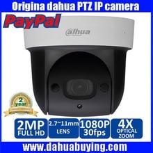 Original inglés sd29204s-gn dahua 1080 p 2mp full hd ir 30 m visión nocturna 4x red ptz mini domo de memoria sd micro cámara