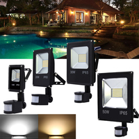 10W 20W 30W 50W Motion Sensor LED Flood Light Waterproof IP65 Floodlight Spotlight Led Exterior Spot Outdoor Light
