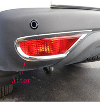 For Mitsubishi Pajero Sport 2010 2014 Rear Tail Fog Light Lamp Cover Trim Car Styling ABS