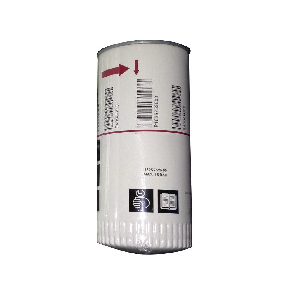 Filtre à huile de remplacement 1625752500 pour pièces de compresseur d'air Atlas Copco 2903752500