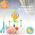 Minitudou móvel para cribs do bebê cama sino com música chocalhos educacional crianças toys para bebês recém-nascidos 0-12 meses