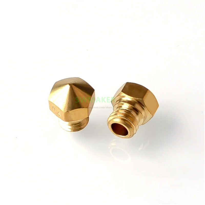 Brass Nozzle Size 0.2mm 0.3mm 0.4mm 0.5mm 0.6mm 0.8mm 1.75mm For Flashforge Finder 3D Printer Spare Parts