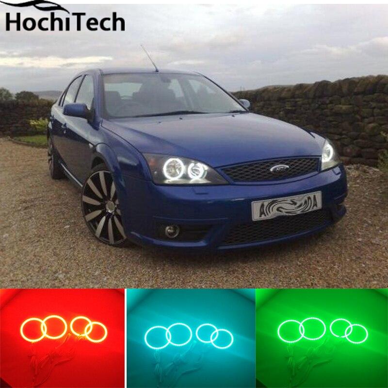 Pour FORD Mondeo MK3 RGB phare LED halo angel eyes kit accessoires de style de voiture 2001 2003 2004 2005 2006 2007