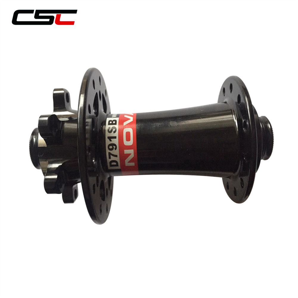 US $42 75 25% OFF|Novatec D791SB 6 bolt disc brake front hub 12mm 15mm Thru  axle or standard QR available-in Bicycle Hubs from Sports & Entertainment