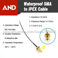 IP66 IP67 waterproof pigtail,RF jumper with o ring, sma to IPEX