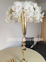 Gold wedding flower vase 10pcs/lot