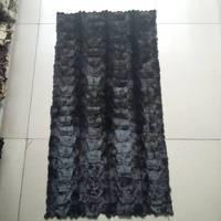Raw mink head fur plate real mink fur rug/fur blanket