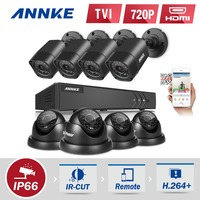 ANNKE 720P 8CH 1080P HDMI Surveillance Kit 8pcs 1200TVL HD 1 0MP CCTV IR Outdoor Waterproof