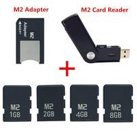 Оригинальный! M2 карты памяти 1 GB 2 GB 4 GB 8 GB memory Stick Micro с адаптером MS PRO DUO + бесплатная M2 card Reader