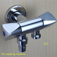 Brass Bathroom Accessories Double Outlet Outdoor Garden Faucet For Shower Head Toilet Sink Basin Water Heater