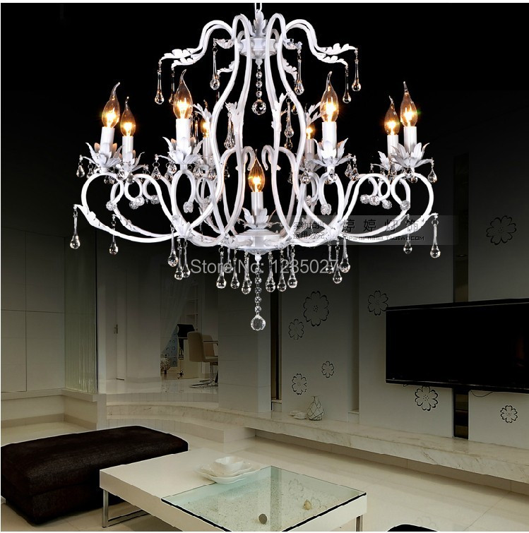 Hot SaleContinental Crystal Candle Lamp Vintage Wrought Iron Chandelier bedroom dining-room lamp lighting lamps black crystal chandelier light modern black chandelier lighting bedroom dining room living lobby lamp lighting candle bulb