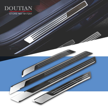 цена на For VW PASSAT B7 Sedan door sill car styling covers strip welcome pedal Trim auto accessories