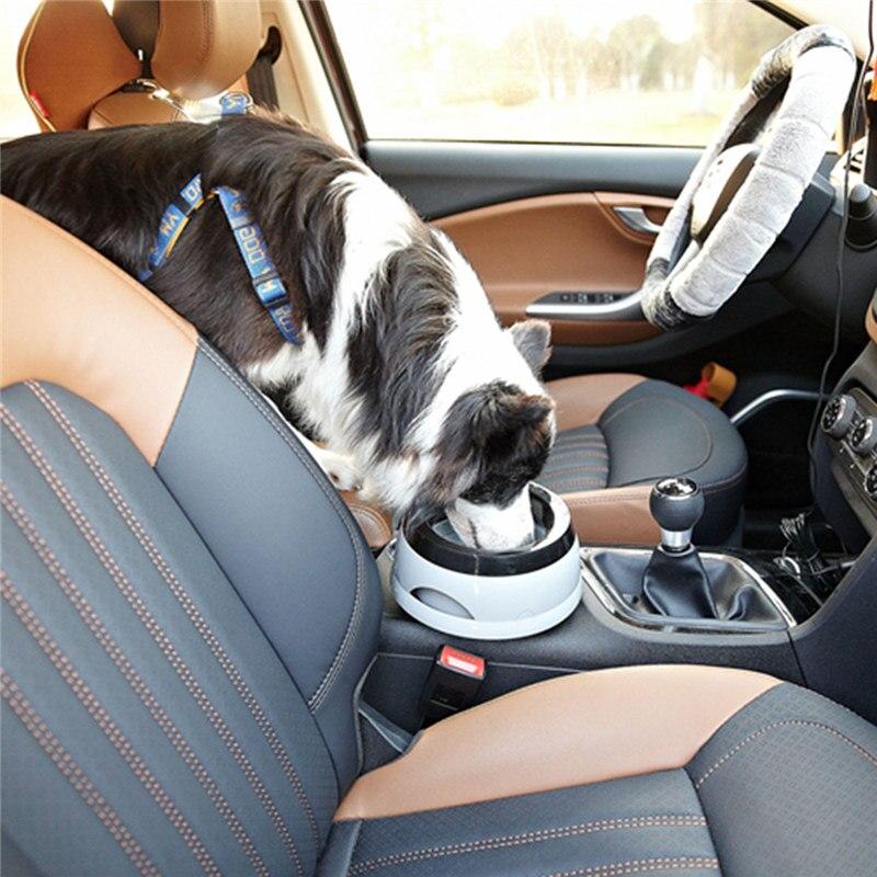 High Quality Pet Cat Dog Car Feeding Watering Bowl Prevent Splashing Animal Auto Drink Feeder Dog Outdoor Travel Supplies