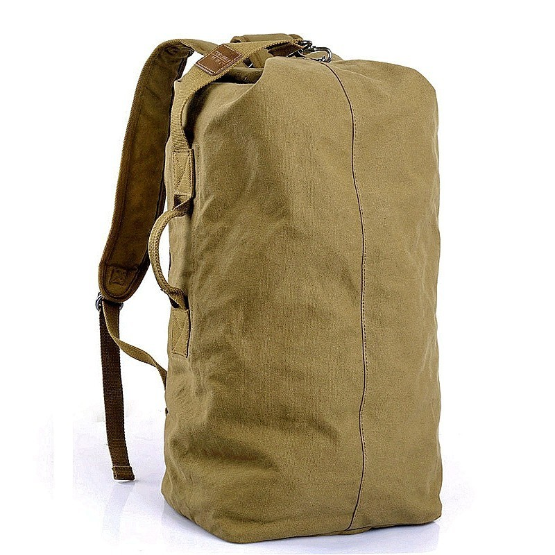 <font><b>35L</b></font> Canvas Outdoor Military <font><b>Backpack</b></font> Tactical Hiking Camping Travel Bag For Hunting Fishing Rucksack Gym Fitness Sports Handbags image