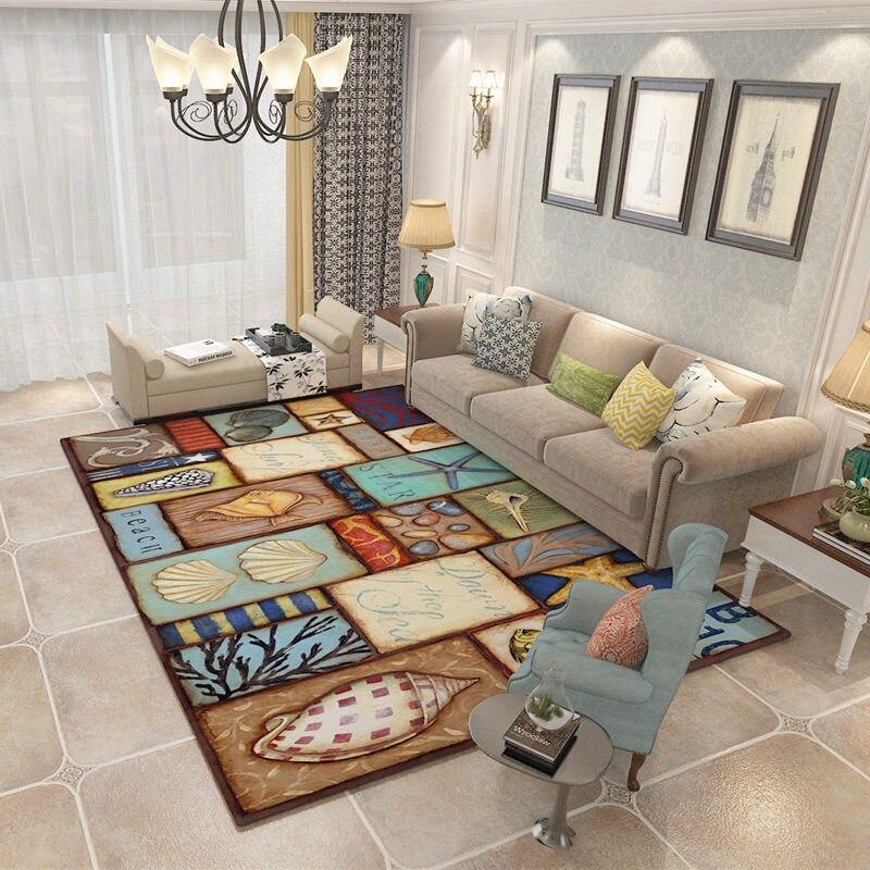120x160 cm Top rétro Style nordique tapis pour salon maison chambre tapis et tapis Table basse brève zone tapis enfants jouer tapis