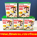 100 hojas de alta calidad original fujifilm instax mini 8 film para 7 s 25 8 50 s 90 cámara instantánea polaroid mini película blanca edage