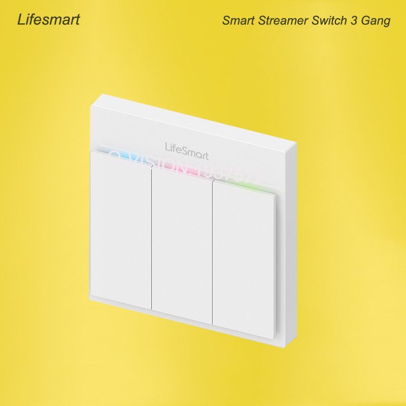 Lifesmart UK Type Blend Streamer Smart Switch Cell Phone APP Remote Control 16 million Color RF433 AC220V Smart Home IOS Android-3