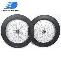 1473g Straight Pull 700c 88mm Carbon Wheels Road Bike Tubular Bicycle Wheelset Powerway R36/Bitex BX305 hubs Cycling 20 24 Holes