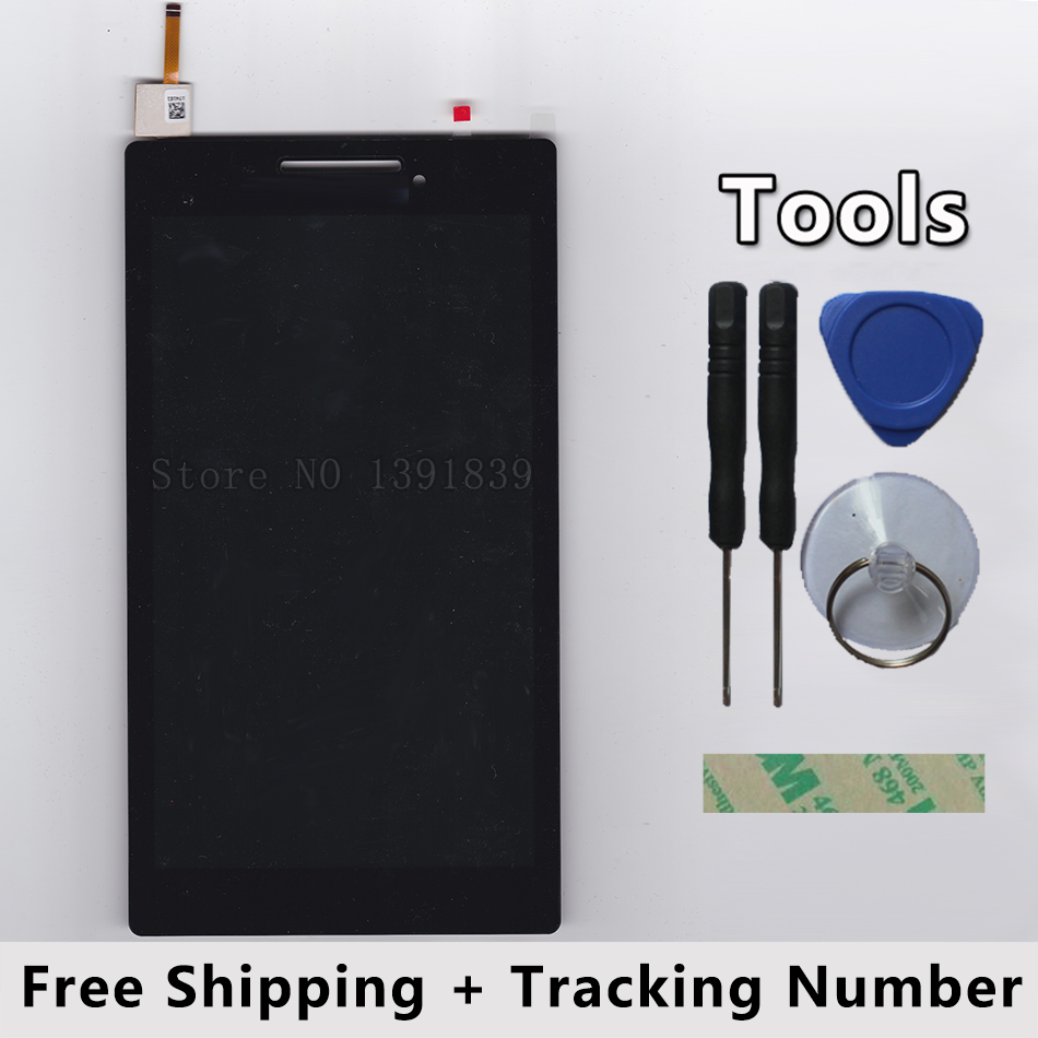 LCD Display + Touch Screen Digitizer Glass Panel Sensor Assembly For Lenovo Tab 2 A7-10 A7-10F