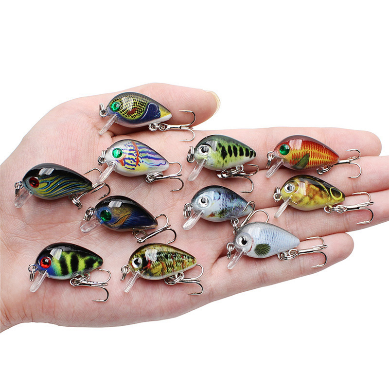 30mm 2g Crazy Wobblers Mini Topwater Crankbait Artificial Japan Hard Bait Pesca Floating Fishing Lures bass Pesca in Fishing Lures from Sports Entertainment