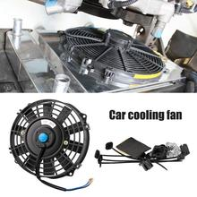 New 2019 7 Inch Car Electric Cooling Fan A/C System 12V/80W High Power Water Tank Fan Cooler Radiator Cooling Thermo Fan ram1238b1 c 220v for xinruilian cooling fan 0 08a 0 09a high temperature resistance