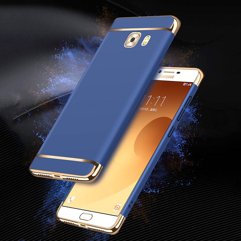 3 in 1 Hybrid brushed Frosted Protective hard Plating Case for Samsung Galaxy C5 C5pro C7 C9pro