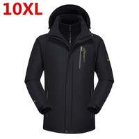 10XL 9XL Большие размеры 2 в 1 Для мужчин Куртки Для мужчин верхняя одежда пальто мужские повседневные два Костюм из нескольких предметов Водоне