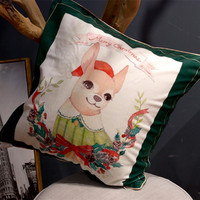Decorative Cushion Covers Vintage Christmas Sofa Bed Home Decor Pillow Case Cushion Cover
