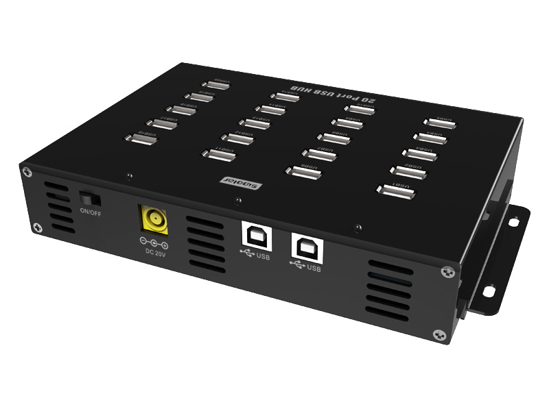 Sipolar New Product 20 Port usb Charge Hub with 20V 4.5A Power Adapter industrial usb hub 16 port usb 2 0 hub supply from sipolar