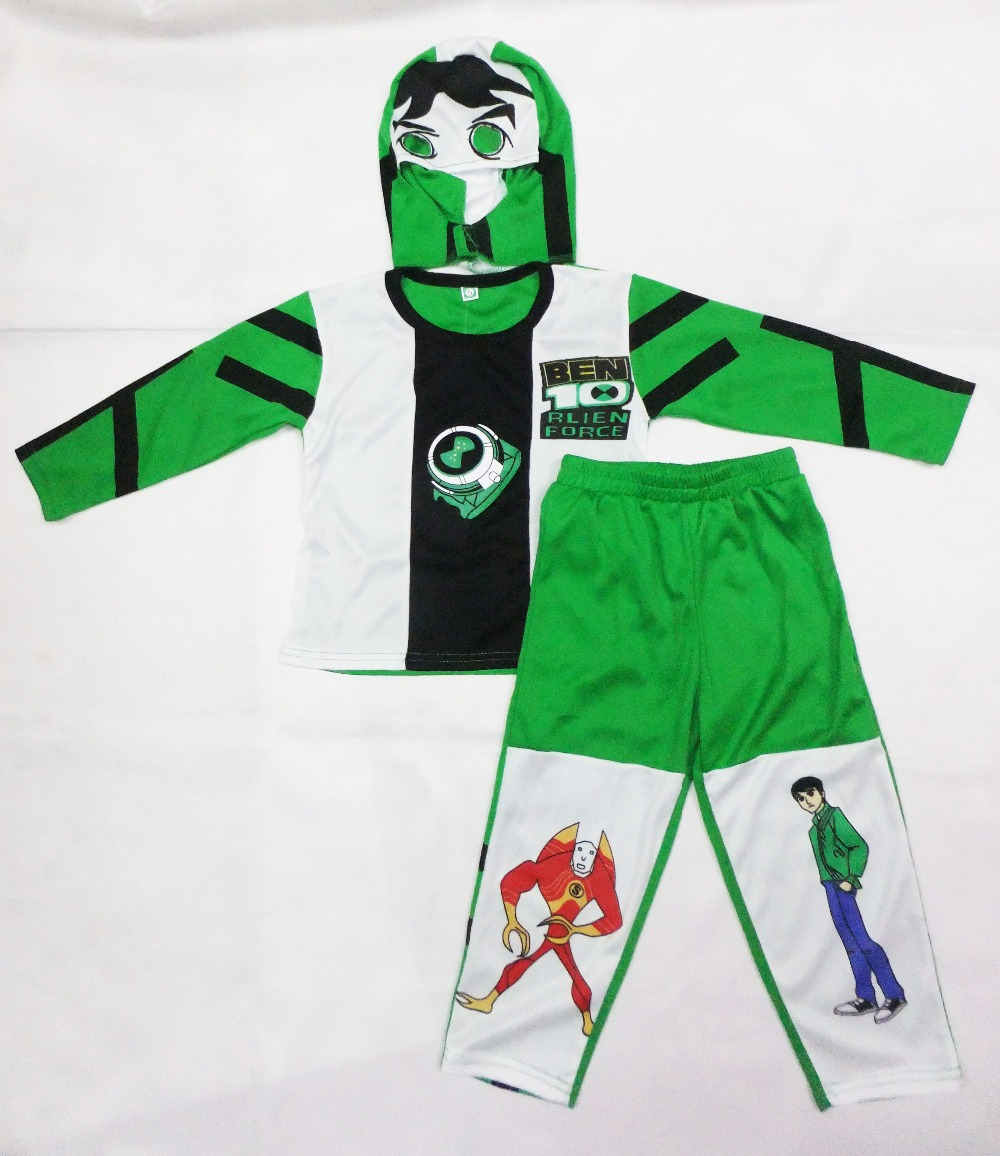 Kid Cosplay Halloween Party kostuums Ben 10: Race Against Time kleding, Hallowmas Boy Rollende kleding, T-shirt maat: S-XXL