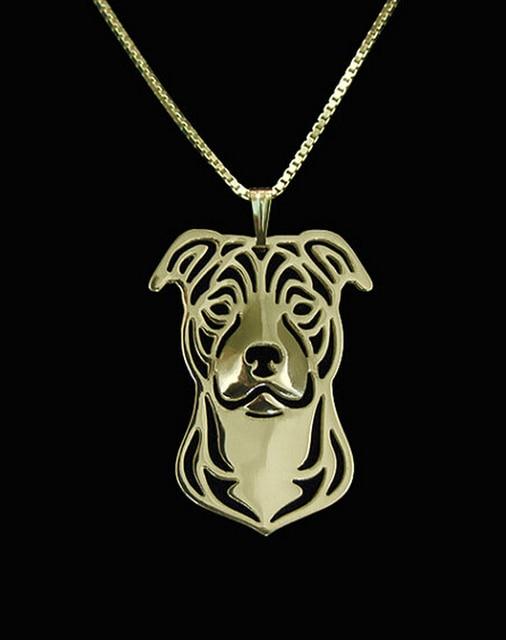 Фото ожерелье с мультяшной собакой персонажа стаффордшира бультерьера