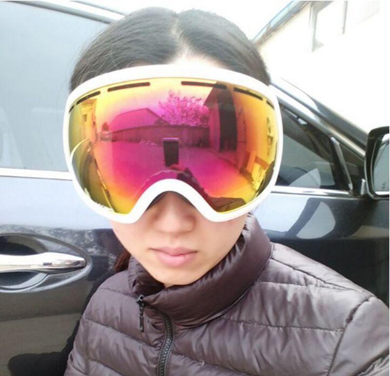 Lunettes de Ski professionnelles hommes femmes Anti-buée 2 lentilles UV400 adulte hiver Ski lunettes Snowboard neige lunettes, livraison gratuite!