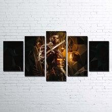 Модульные Стены Книги по искусству холст HD с Рамка современный номер фотографии 5 шт. Deus Ex Mankind Divided живопись Домашний декор плакат Pengda