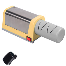 Fashion Household Sharpener  XYJ Brand Kitchen Electric Diamond Knife Sharpener  Yellow Color High Quality 4 Stages Sharpener