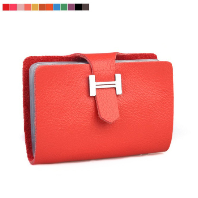 Free shipping 100% Genuine leather card holder , Wholesale card case wallet cc02