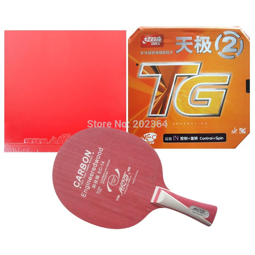ФОТО Galaxy YINHE EC-14 Blade With Globe 999 China National Version and DHS NEO Skyline TG2 Rubber With Sponge for a Racket