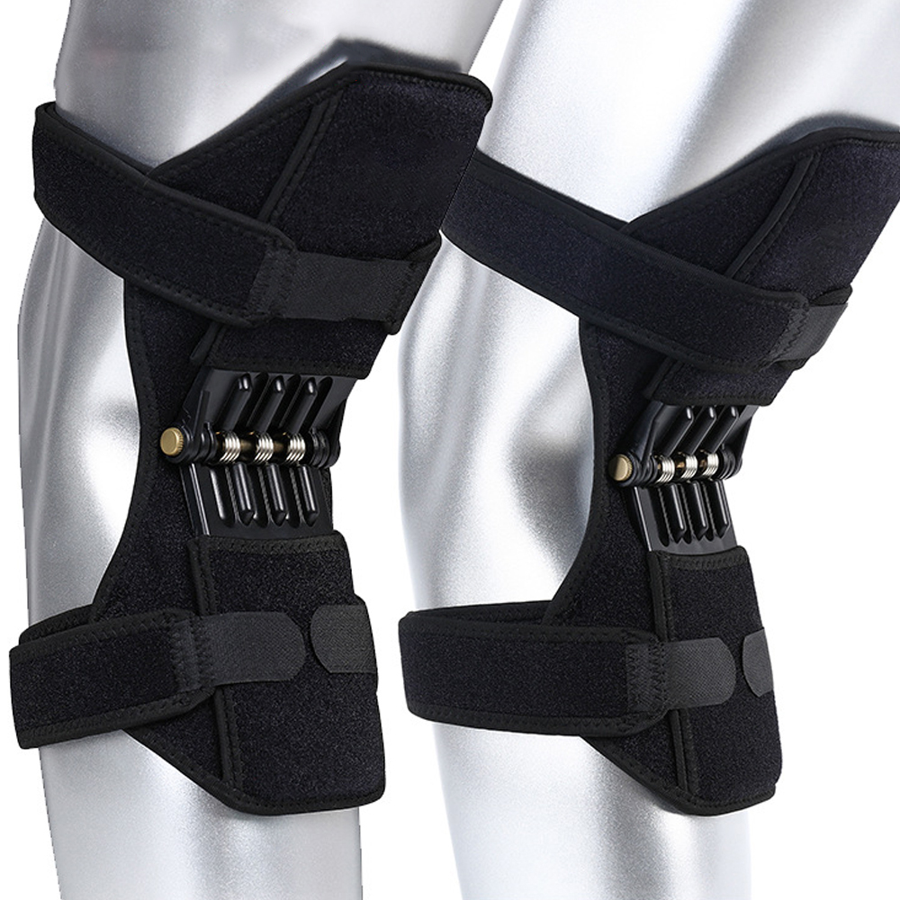 1 Pair Joint Support Knee Pads Breathable Non-slip Power Joint Support Knee Pads Powerful Rebound Spring Force Knee Booster power knee stabilizer pads lazada