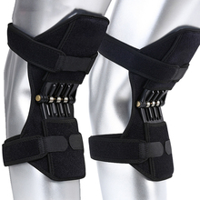 1 Pair Joint Support Knee Pads Breathable Non-slip Power Joint Support Knee Pads Powerful Rebound Spring Force Knee Booster 1 pair joint support knee pads breathable non slip power joint support knee pads powerful rebound spring force knee booster