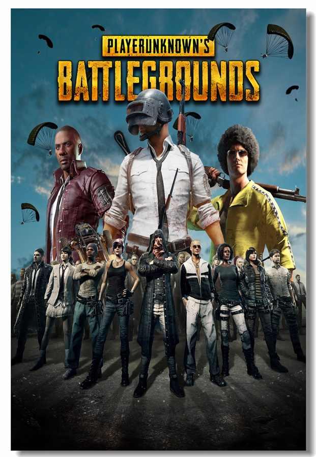 Custom Canvas Wall Decals Battlegrounds Poster Player Unknown's  Battlegrounds Wall Stickers Mural PUBG Game Wallpaper #0194#