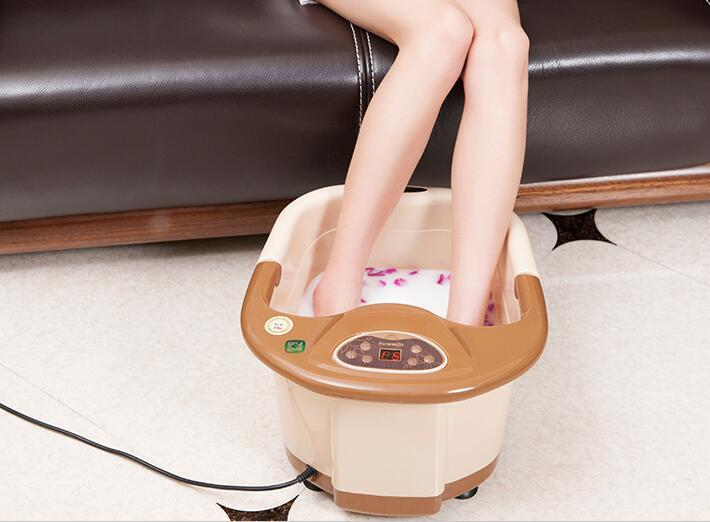 Automatic Electric Foot Spa Device Footbath Machine Constant Temp Foot Massage Heating Roller Massager Safe Bucket Basin 220v electric antistress foot massager cheap foot massage machine infrared foot care device with heating