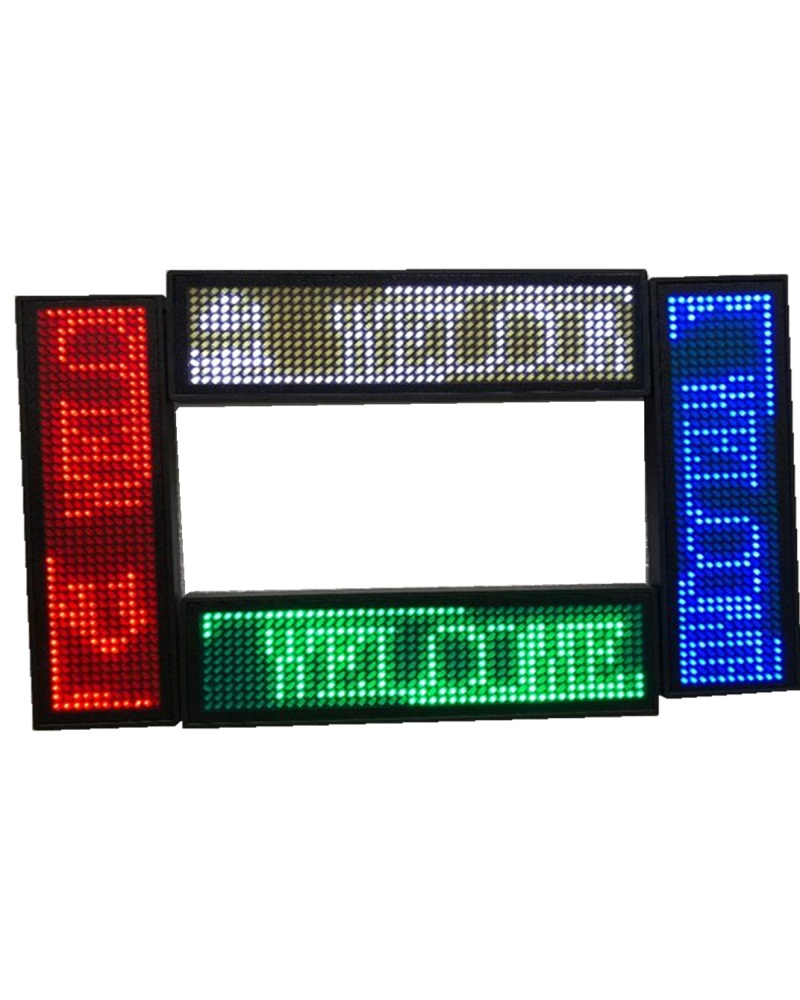 Single Red/Green/White/Blue Color 92.3*28mm USB MICRO Scrolling Message Led Name Badge Led Name Tag For Chest Card Label