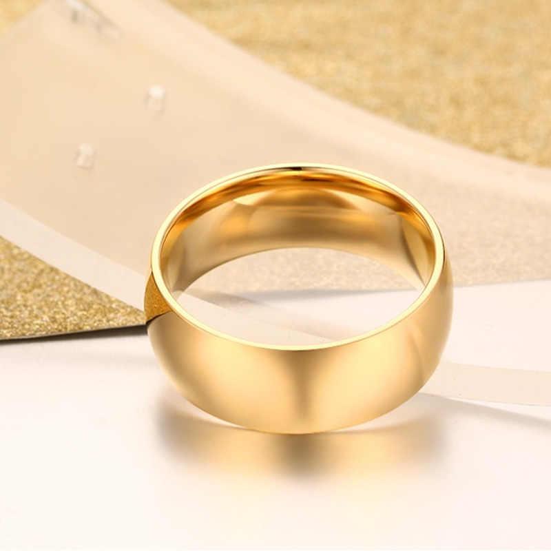 Meaeguet งานแต่งงานแหวนผู้ชาย-สีสแตนเลสแฟชั่น Lover เครื่องประดับ USA ขนาด