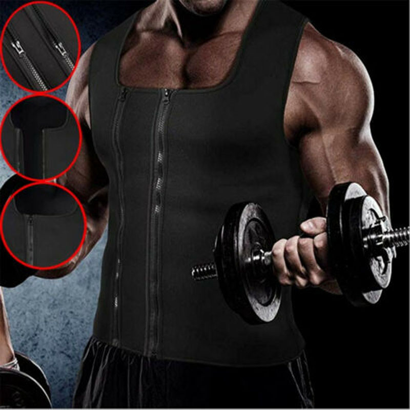 2019 New Fashion Hot Sale Men Neoprene Sauna Thermo Sweat Body Shaper Waist Trainer Gym Slim Corset Vest